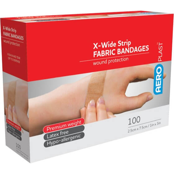 Fabric Extra Wide Strip 75mm X 25mm PK100
