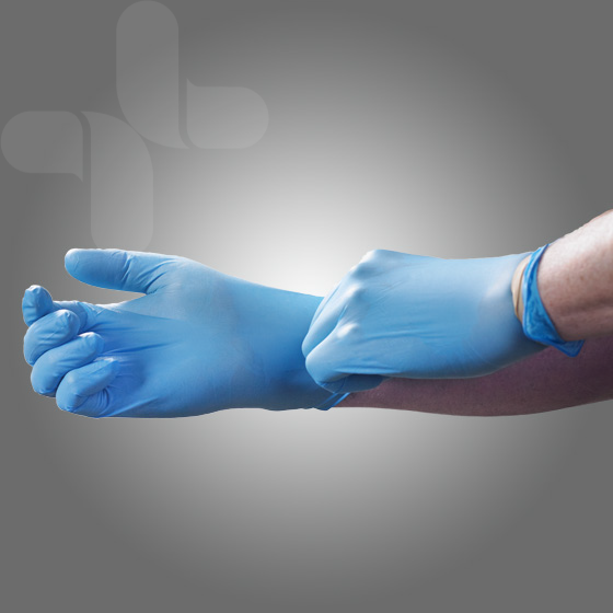 Nitrile Glove Powder Free bag of 2 1