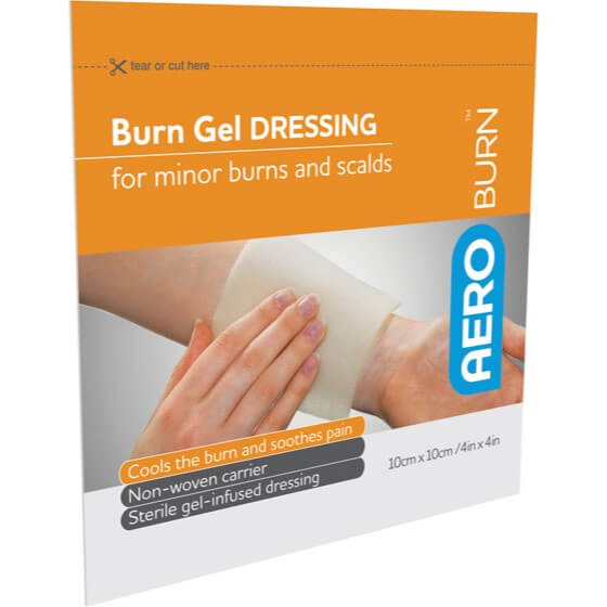 Product image of the burn gel infused dressing