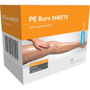 Polyethylene Burn Sheet - 60cm X 90cm Box 25