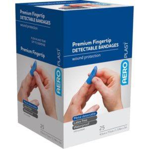 Detectable Fingertip Dressing 75mm x 45mm PK25