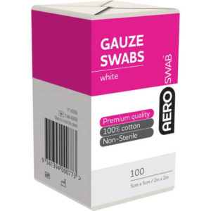 8 Ply Gauze Swab - 5cm X 5cm Pack of 100
