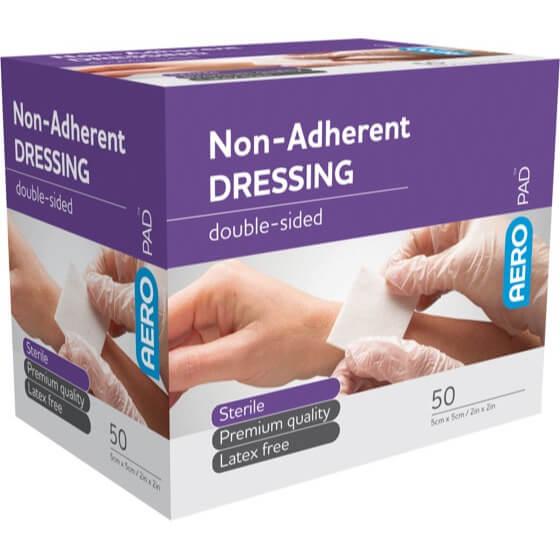 Low Adherent Dressing Pad 5cm X 5cm - Box 50