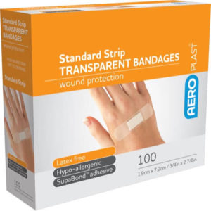 Transparent Strip 72mm x 19mm PK100