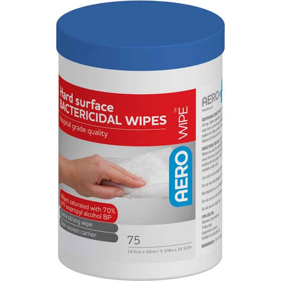 Hard Surface Disinfectant Wipes - Tub 75 Wipes