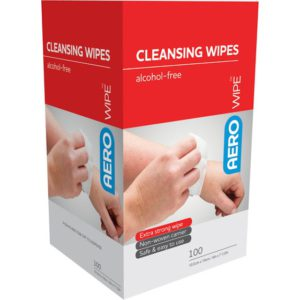 Alcohol-Free Cleansing Wipes - Box of 100