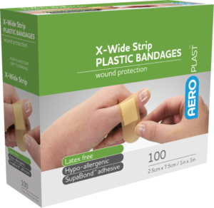 Plastic Extra Wide Strip 72mm x 25mm PK100