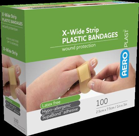 Plastic Extra Wide Strip 72mm x 25mm PK100