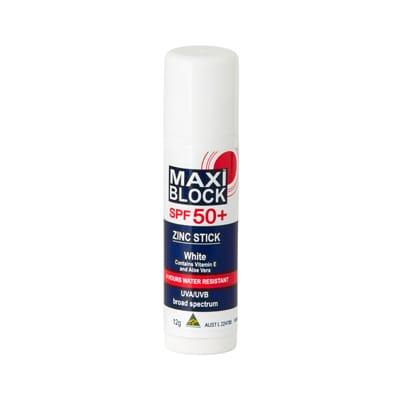 Maxiblock Zinc Stick White 50+