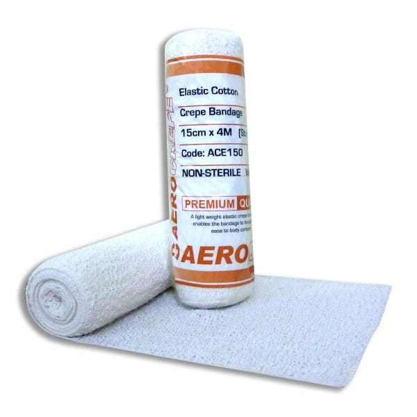 Elastic Cotton Crepe Bandage 15cm x 4m Wrap 12