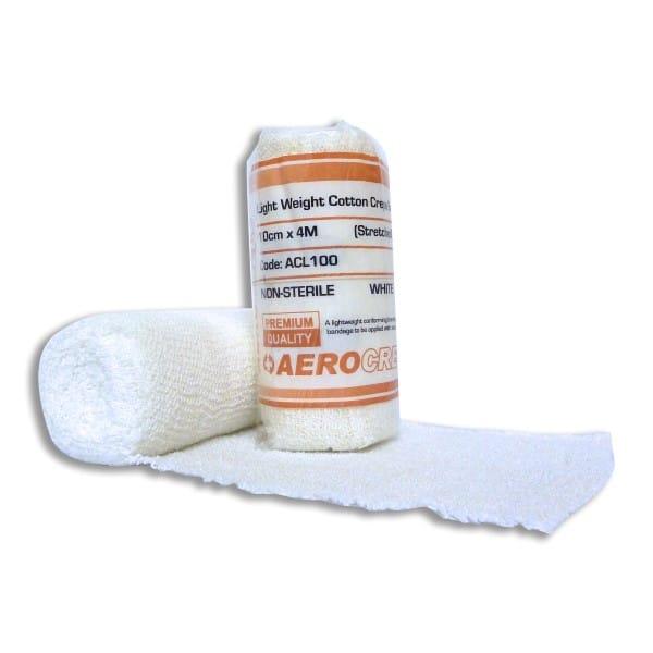 Light Cotton Crepe Bandage 10cm x 4m Wrap 12