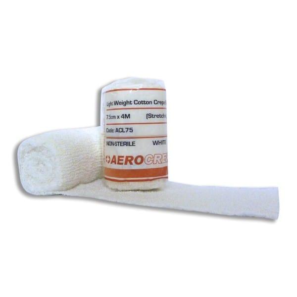 Light Cotton Crepe Bandage 7.5cm x 4m