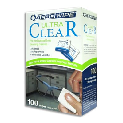 Pre-moistened Lense Cleaning Wipes Box 100