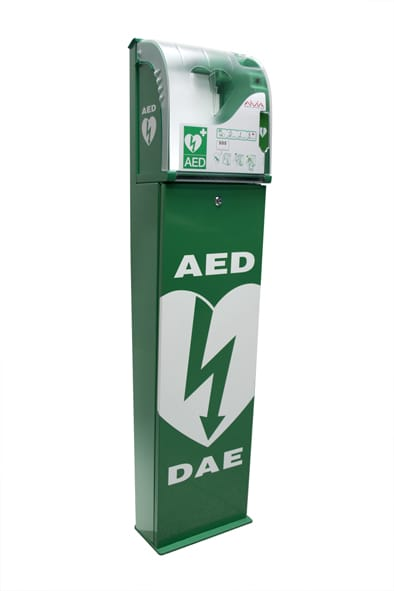 Supervised Defibrillator Cabinet With Stand