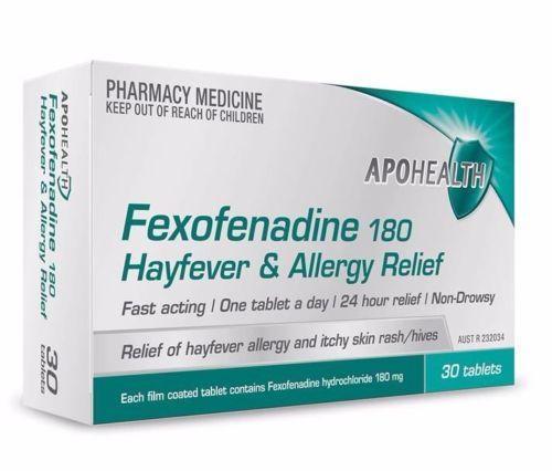 Fexofenadine 180mg Tablets pk30