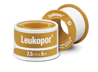 Leukopor Adhesive Paper Tape 1.25cm x 5m Roll