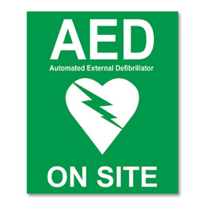 AED On-Site Sticker