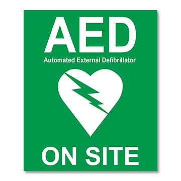 AED On-Site Sticker