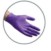 Long Cuff Nitrile Medium Gloves Box 50