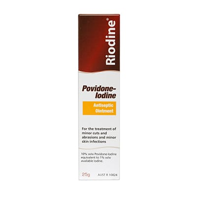products RIODINE ointment 25g CTN lg