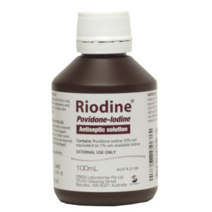 products Riodine Povidone Iodine Solution 100ml