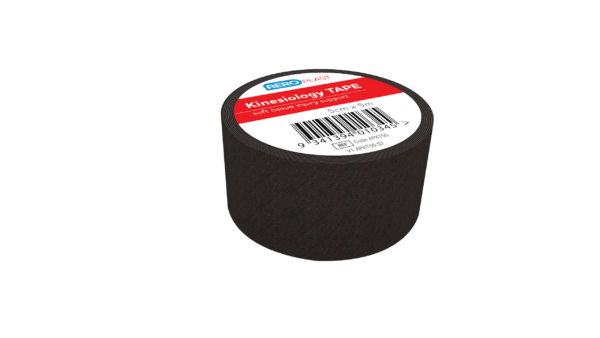 Kinesiology Black Tape 50mm x 5M