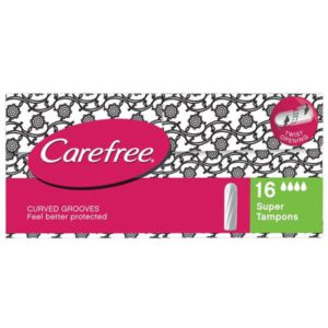 Carefree Tampons Super Packet of 16