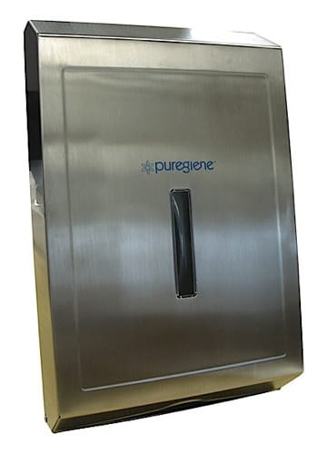 Puregiene Stainless Steel Compact Towel Dispenser.