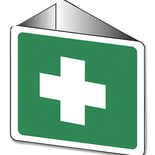 First Aid Cross Off Wall Poly - 22.5cm X 22.5cm