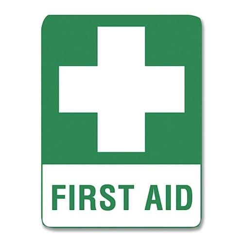 Vehicle First Aid Sticker - 12cm X 14cm PKT 4