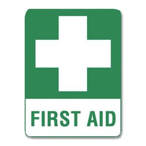 First Aid Sign Metal - 60cm X 45cm