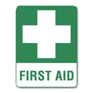 First Aid Sign Metal - 45cm X 30cm