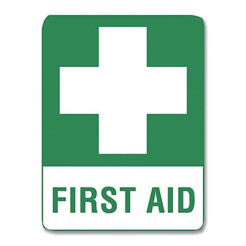 First Aid Sign Metal - 45cm X 30cm