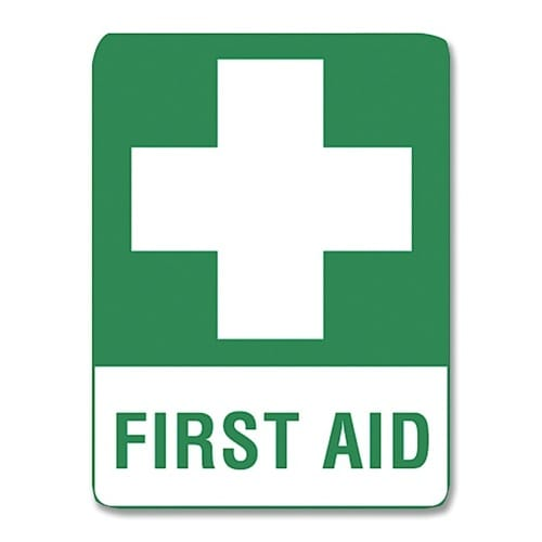 First Aid Sign Poly - 45cm X 30cm