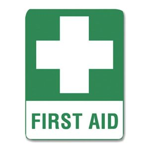 First Aid Sign Metal - 30cm X 22.5cm