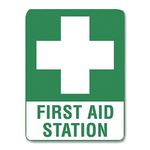 First Aid Station Sign Poly - 60cm X 45cm