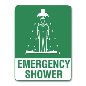 Emergency Shower Sign Metal - 30cm X 22.5cm
