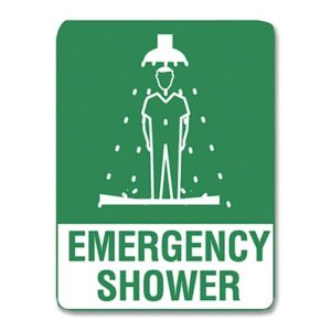 Emergency Shower Sign Poly - 30cm X 22.5cm