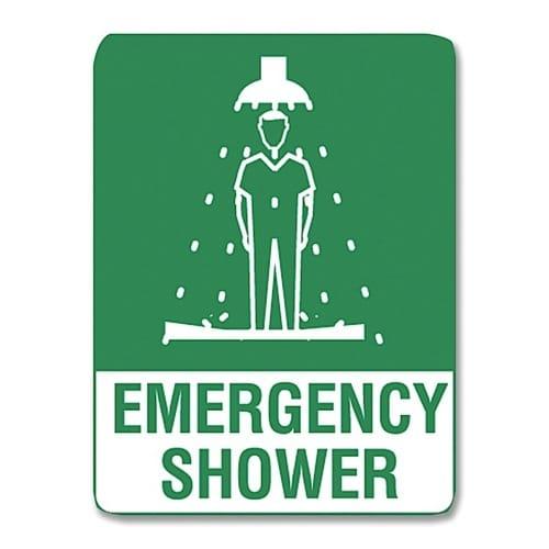 Emergency Shower Sign Poly - 30cm X 22.5cm