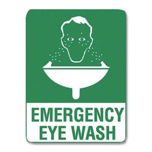 Emergency Eyewash Sign Metal - 60cm X 45cm