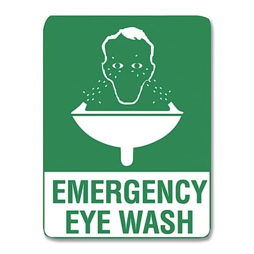 Emergency Eye Wash Sign Poly - 30cm X 22.5cm