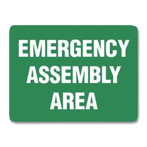 Emergency Assembly Sign Metal - 60cm X 45cm