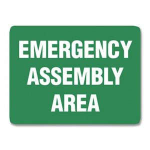 Emergency Assembly Sign Poly - 60cm X 45cm