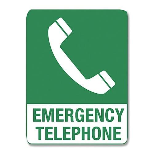 Emergency Telephone Poly - 45cm X 30cm