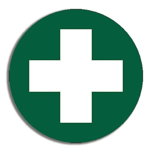 First Aid Adhesive Stickers Pkt 5 - 5cm Diameter