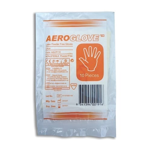 Latex Glove Powder Free Bag of 10