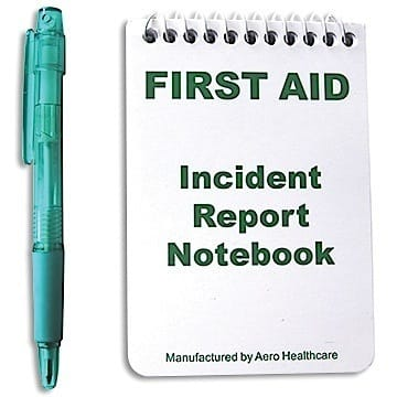 First Aid Notebook with Pen