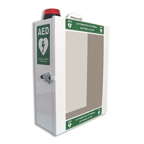 Defibrillator Cabinet with Alarm and Light