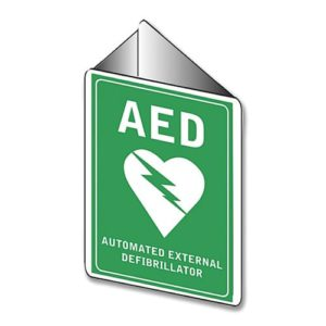 Aed Angle Bracket Wall Sign