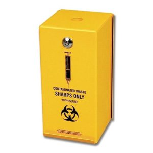 Steel Sharps Disposal Container - 2L